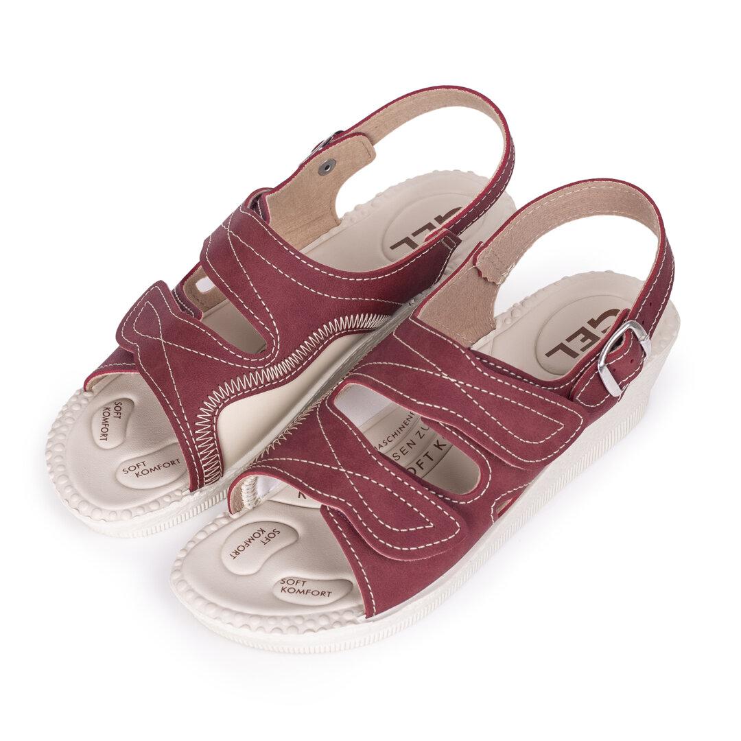 d2556380870f5 Dámske gélové ortopedické sandále na klinku Červená - Ovečkárna.sk