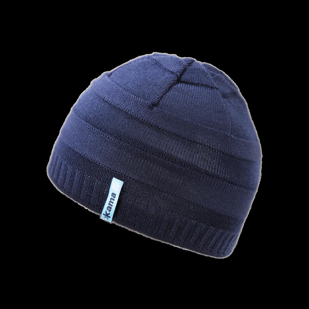 dd453e8c2 Detská pletená merino čiapka KAMA B78 Tmavo modrá - Ovečkárna.sk