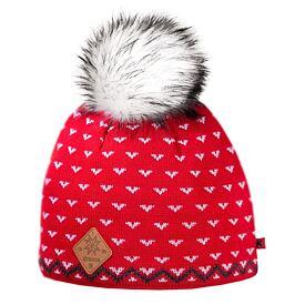 9abe2ede6 Dámska pletená merino čiapka KAMA A105 Červená