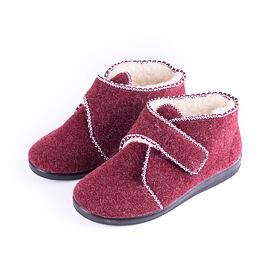 fa3b2a302d4c Dámske papuče s ovčou vlnou na suchý zips Červená